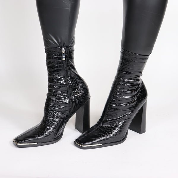 AMARI CROC ANKLE BOOT