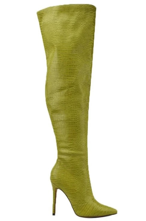 Ava Green Knee High Boot