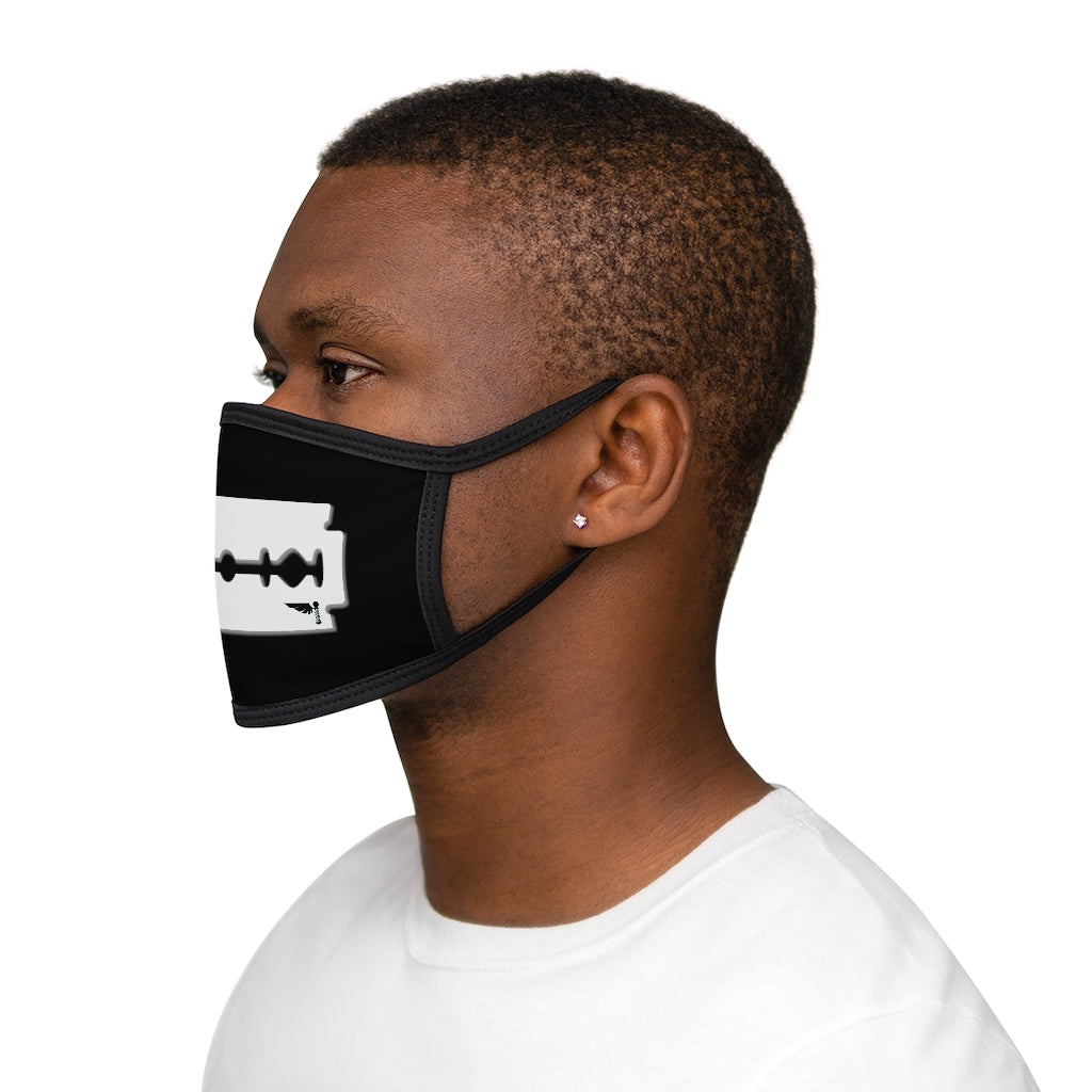 White Razor Mixed-Fabric Face Mask