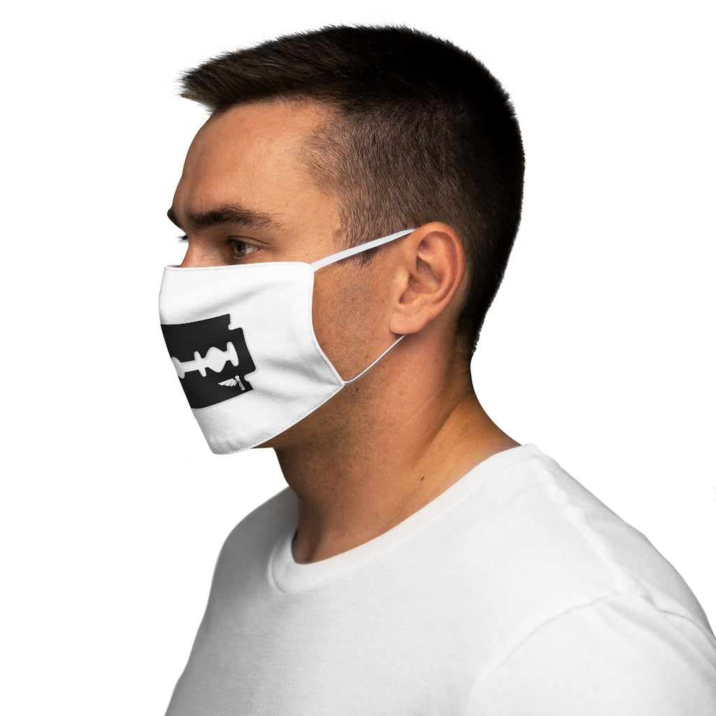 Black Razor Snug-Fit Polyester Face Mask