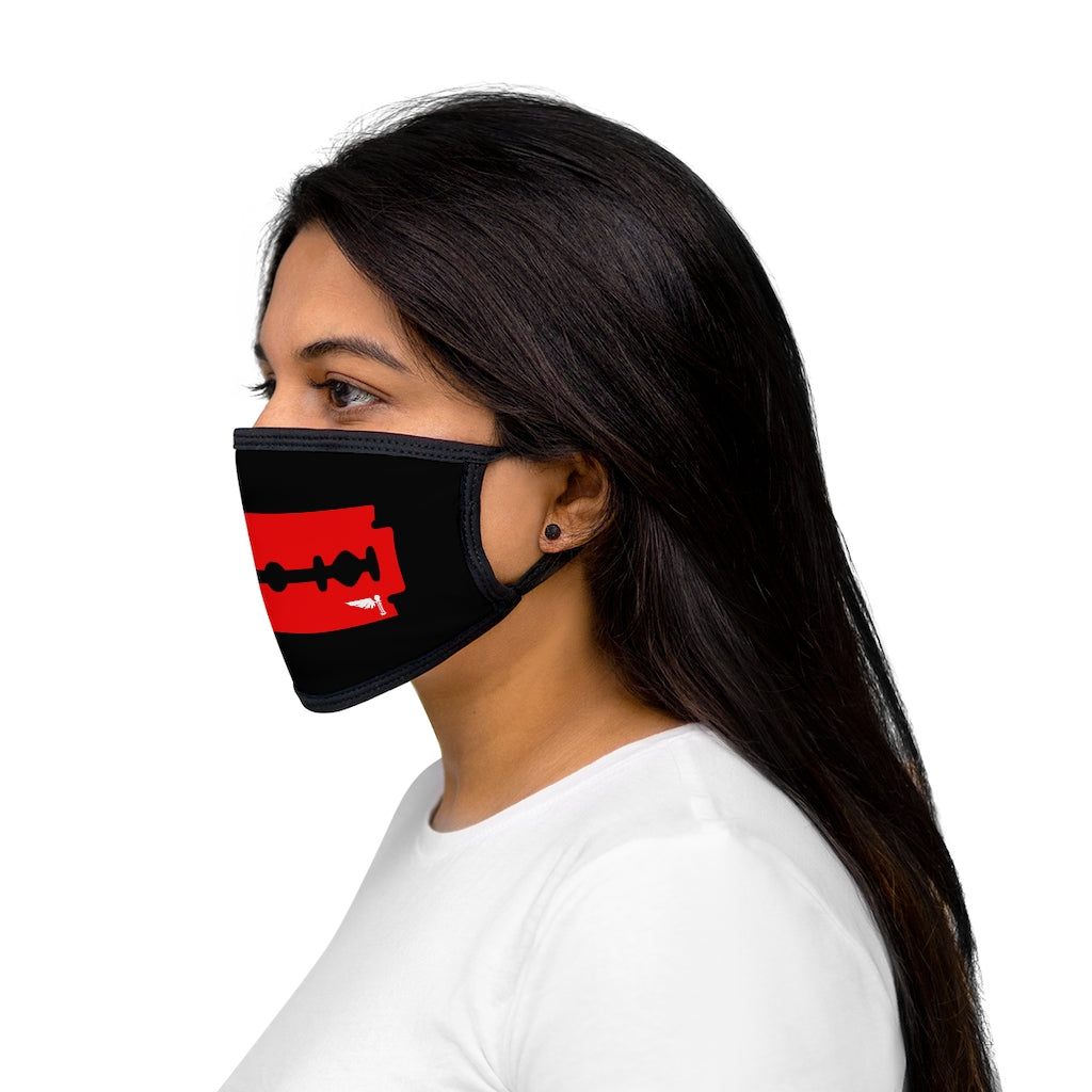 Red Razor Mixed-Fabric Face Mask