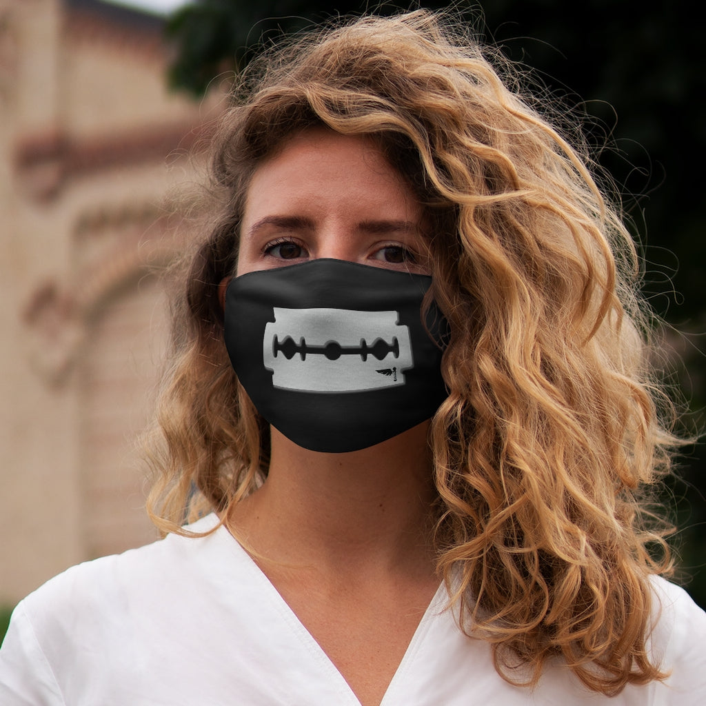 White Razor Snug-Fit Polyester Face Mask