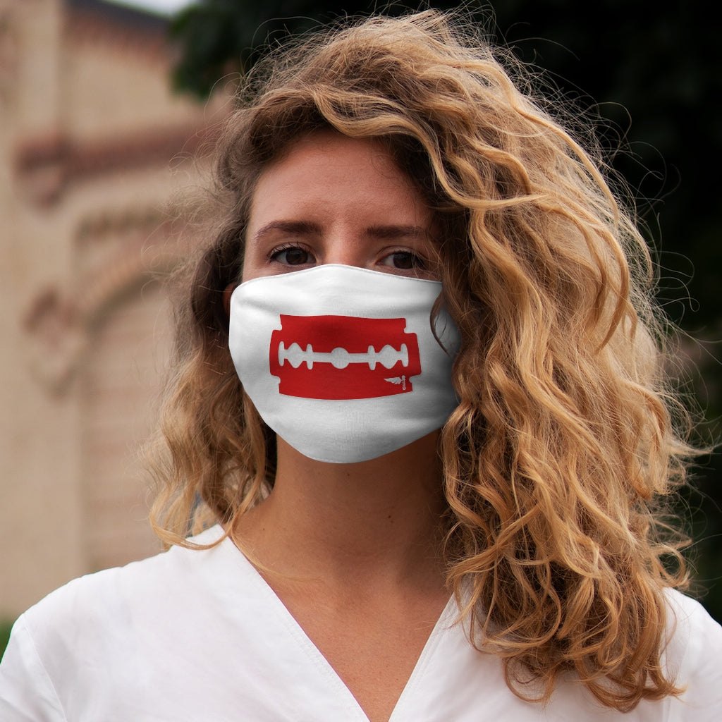 Red Razor Snug-Fit Polyester Face Mask