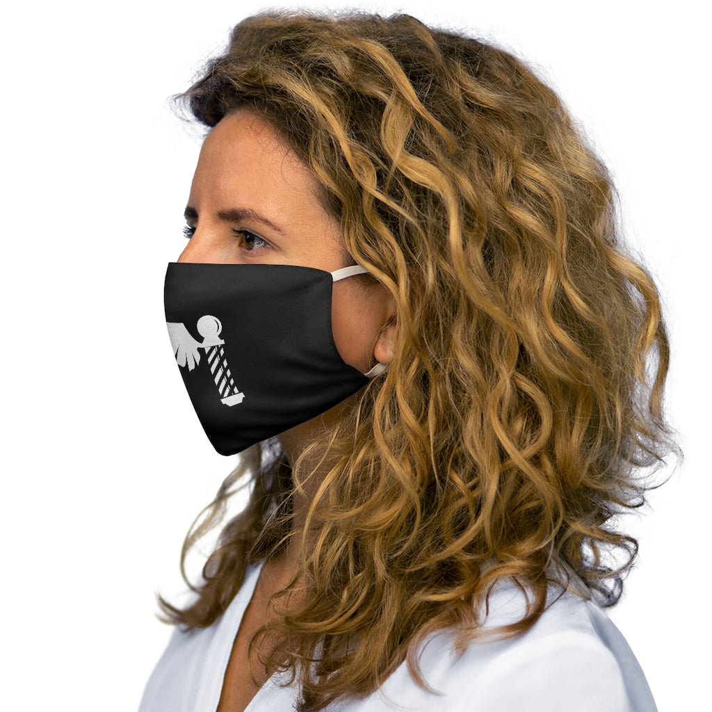 White FlyBarber Snug-Fit Polyester Face Mask
