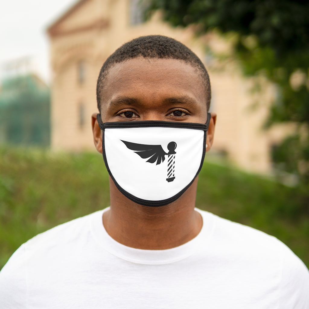 Black FlyBarber Mixed-Fabric Face Mask