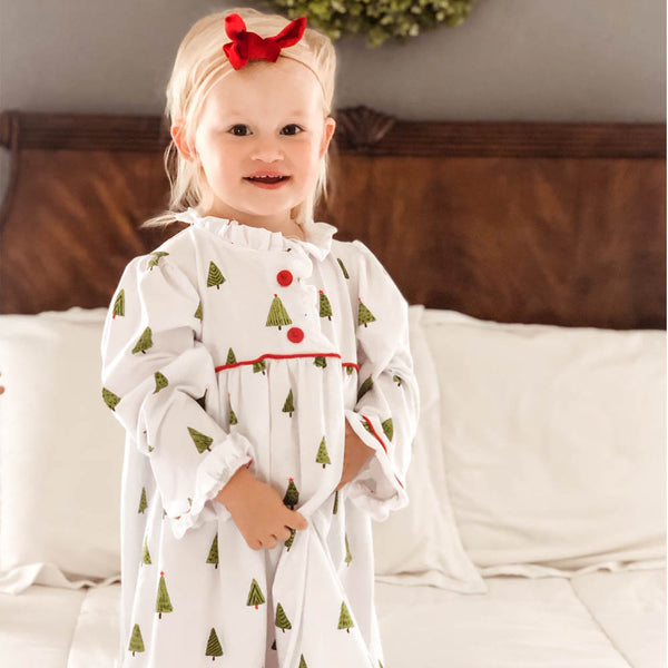 Christmas Tree Ruffle Nightgowns