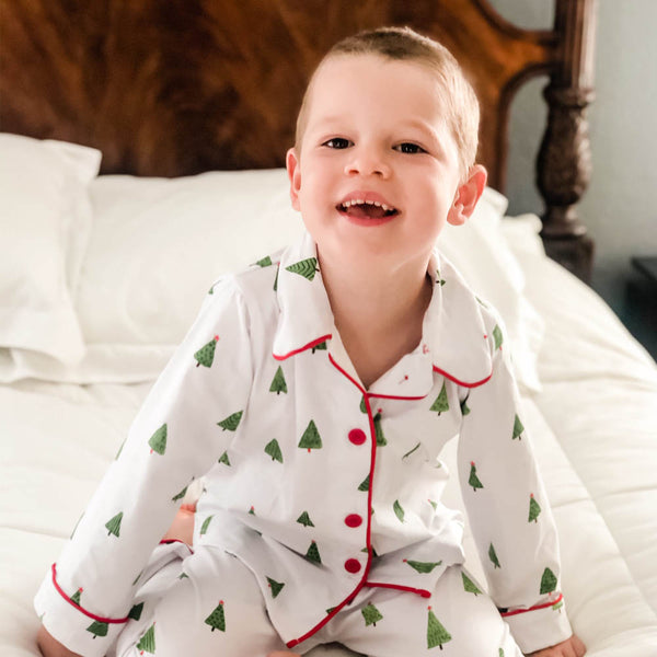 Christmas Tree Button Pajamas
