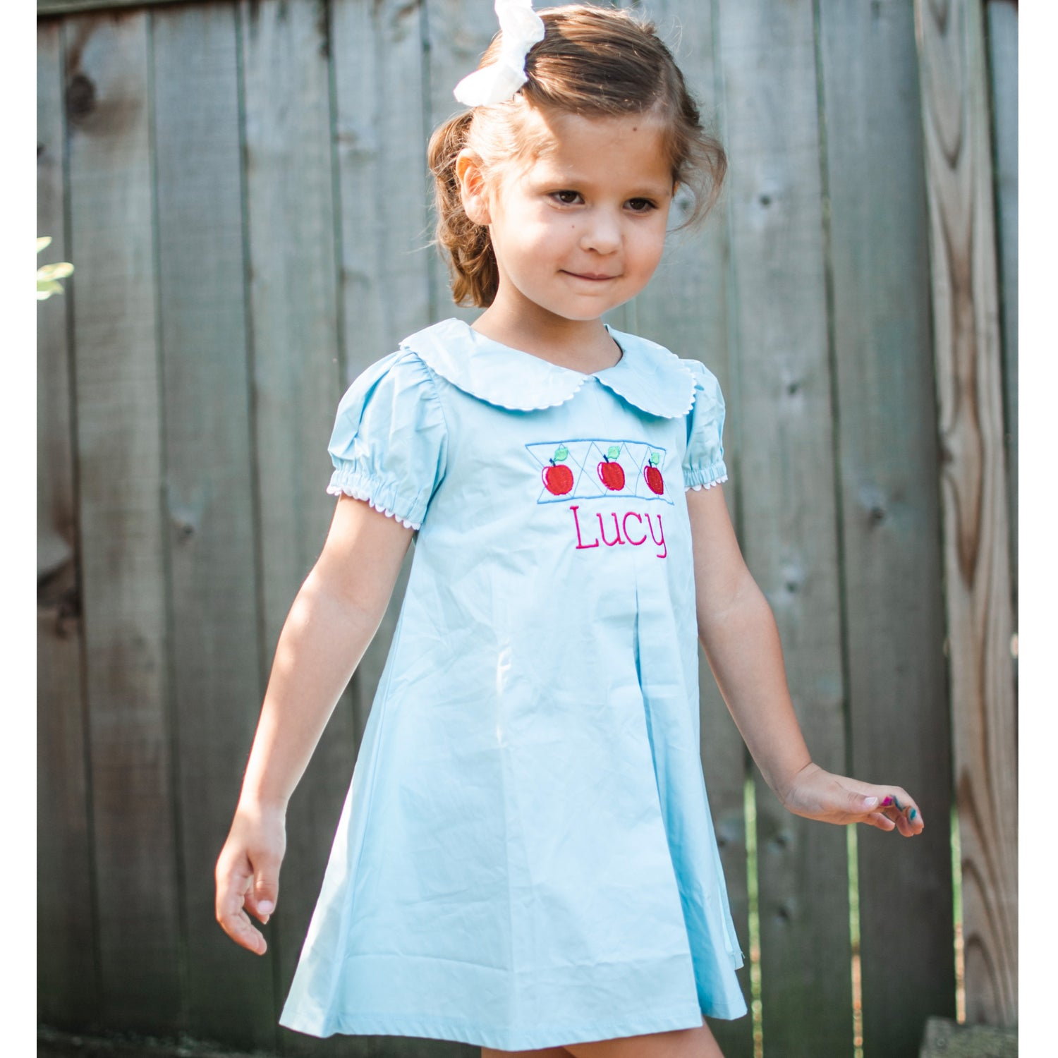 Blue Peter Pan Dress