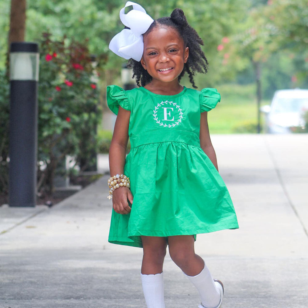 Green Pinafore Dress