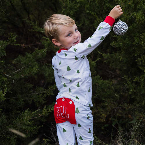 Christmas Tree Buttflap Pajamas