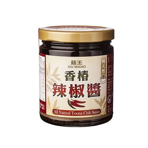 Gu Wang All Natural Vegan Toona Chili Sauce 菇王 純天然香椿辣椒醬