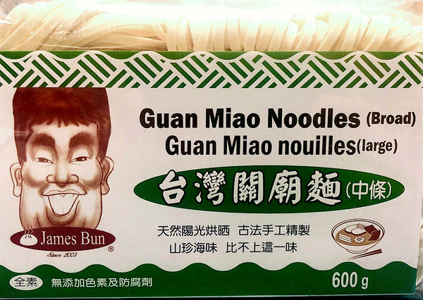 James Bun Guan Miao Noodles(Broad) 台灣關廟麵(中條)