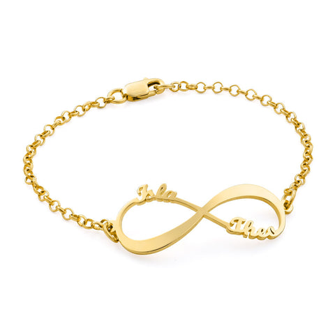Infinity Bracelet with Names - Gold Vermeil