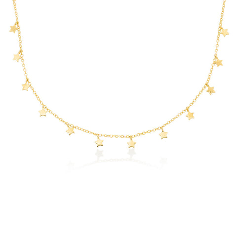 Star Choker Necklace in Gold Plating