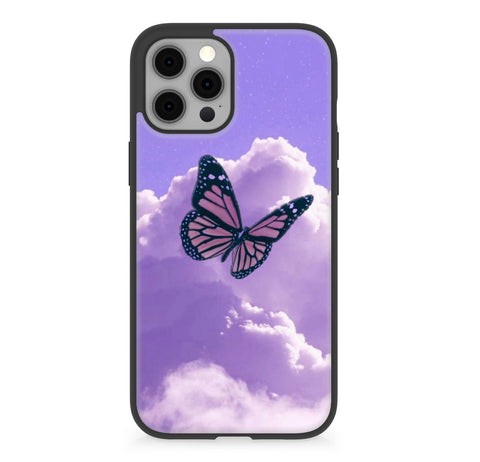 Purple Butterflies Case For iphone 12 series