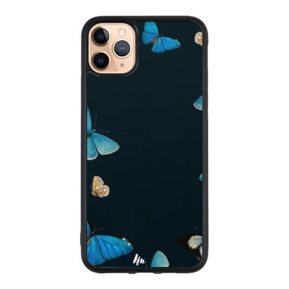 Deep blue Butterfly Case For Iphone 11 pro Max