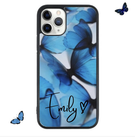 Custom Name Blue butterfly Case