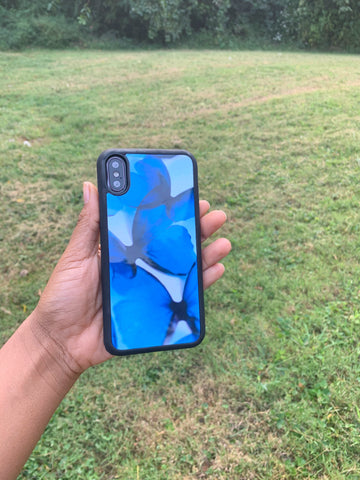 Blue butterfly Case For iPhone X