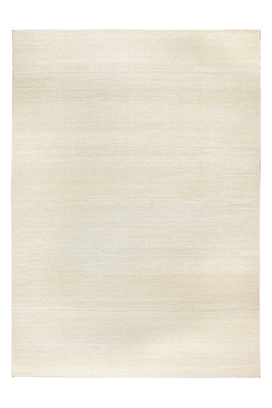 Solid Cream Washable Rug