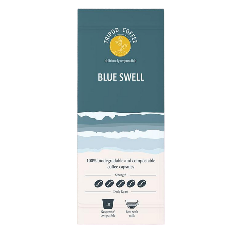 Compostable Coffee Pods Blue Swell | Tripod Coffee | Zenko