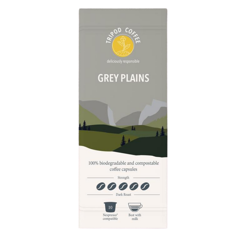Compostable Coffee Pods Grey Plains | Tripod Coffee | Zenko