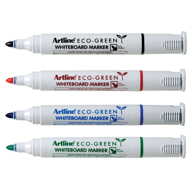 Whiteboard Marker Eco Bullet Multi-Colour 4 Pack | Artline | Zenko