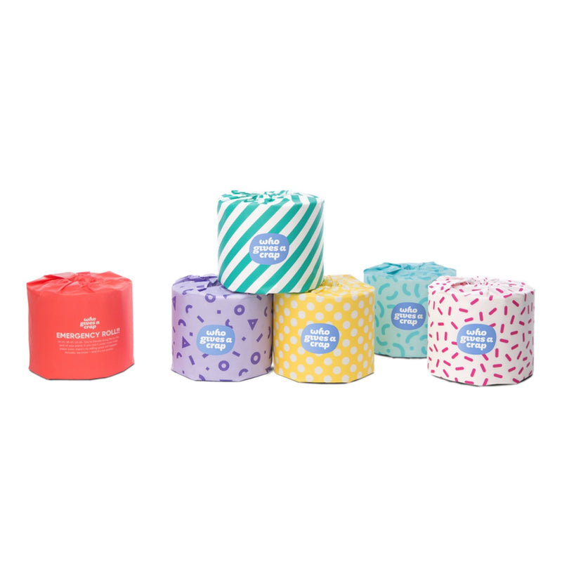 100% Recycled Toilet Paper - 48 Double Length Rolls | Who Gives a Crap | Zenko