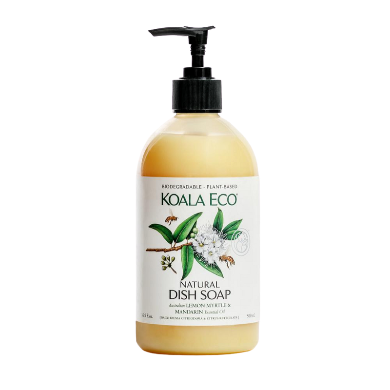 Dish Soap Lemon Myrtle & Mandarin 500ml | Koala Eco | Zenko