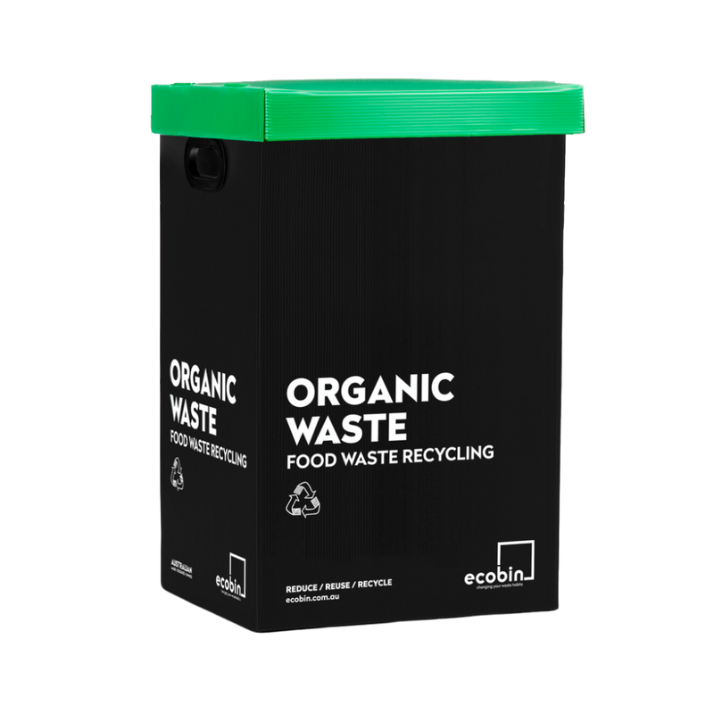 Organic Food Waste Compost Bin | Black & Green Ecobin | 60 Litre