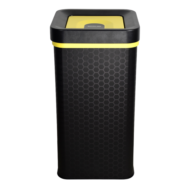 Mixed Recycling FLIP Bin Yellow Ecobin 60 Litre | Zenko