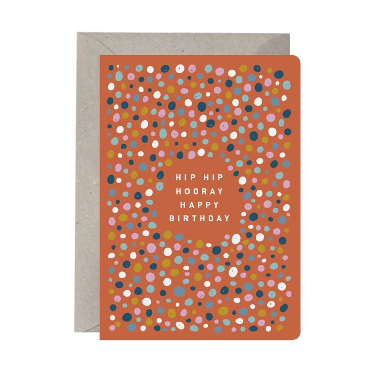 'Hip Hip Hooray Happy Birthday' Birthday Card