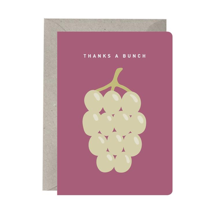 'Thanks a Bunch of Grapes' Card