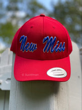 Load image into Gallery viewer, CLASSIC CURVED BRIM  New Miss Baseball Hat (all red brim) Now available in Navy (all navy brim)
