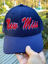 Load image into Gallery viewer, FLAT BRIM New Miss Baseball Hat- (with green under side of brim)-- OR NAVY BLUE FLAT BRIM CAP NOW AVAILABLE