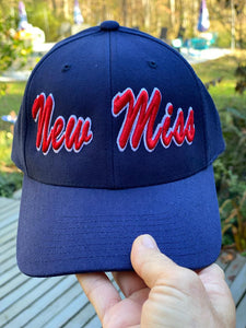FLAT BRIM New Miss Baseball Hat- (with green under side of brim)-- OR NAVY BLUE FLAT BRIM CAP NOW AVAILABLE
