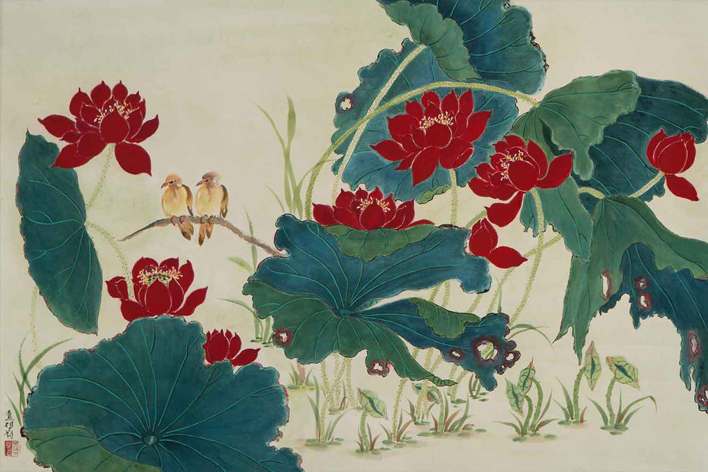 Sparrows and Lotuses