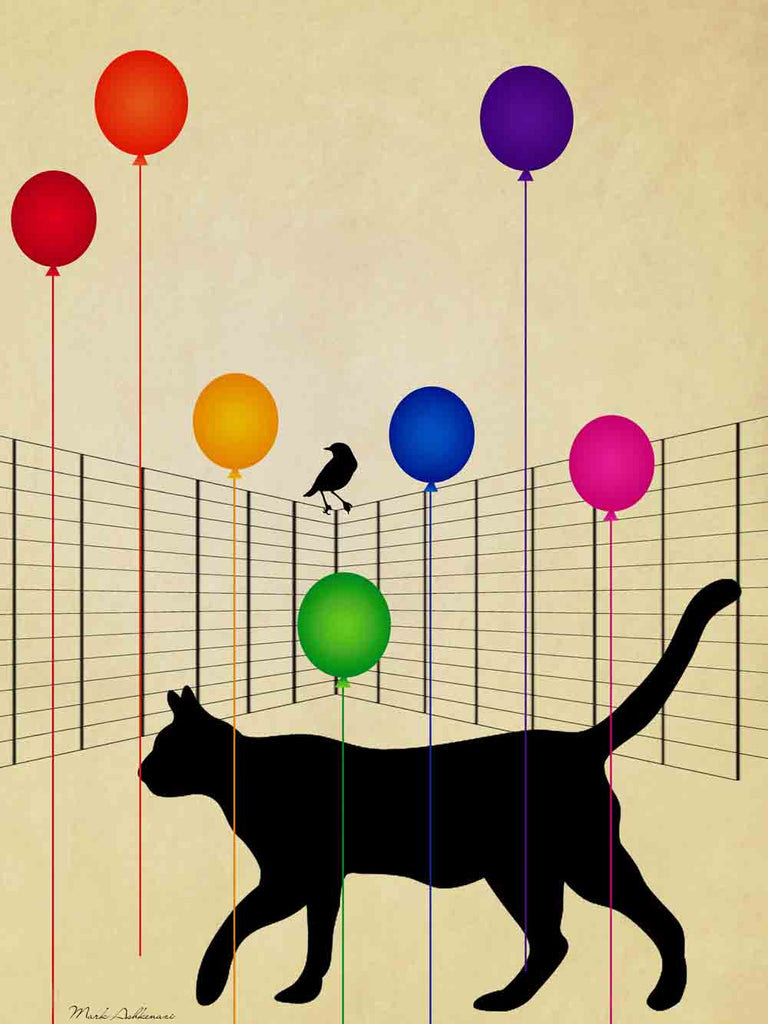 Cat & Baloons