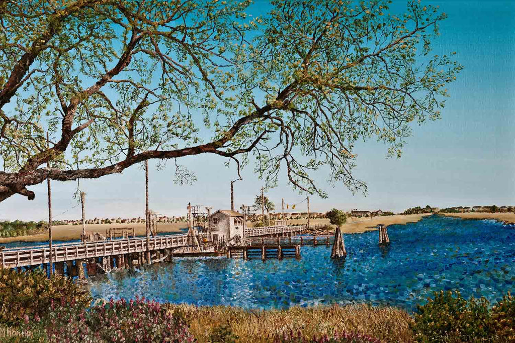 Official Painting of the Sunset Beach Pontoon Bridge