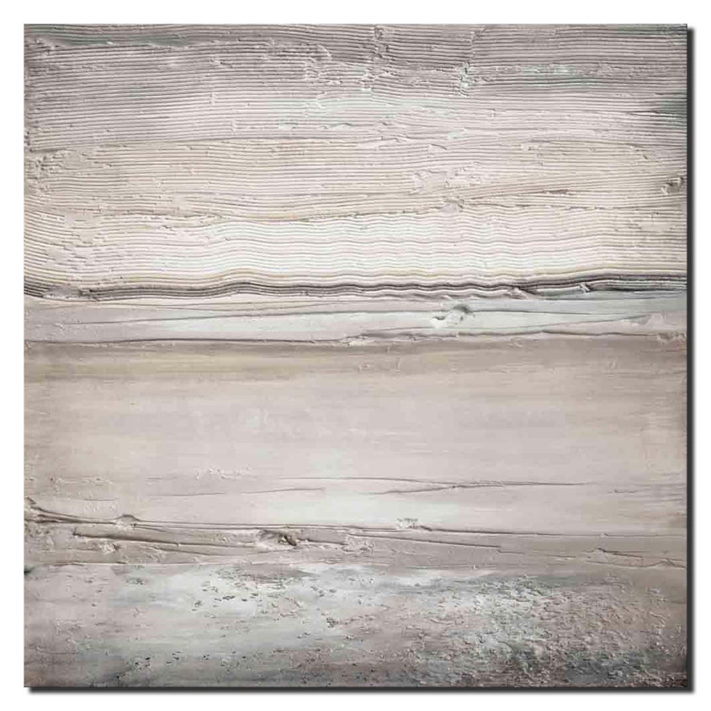 Textured Seascape beige and grey II