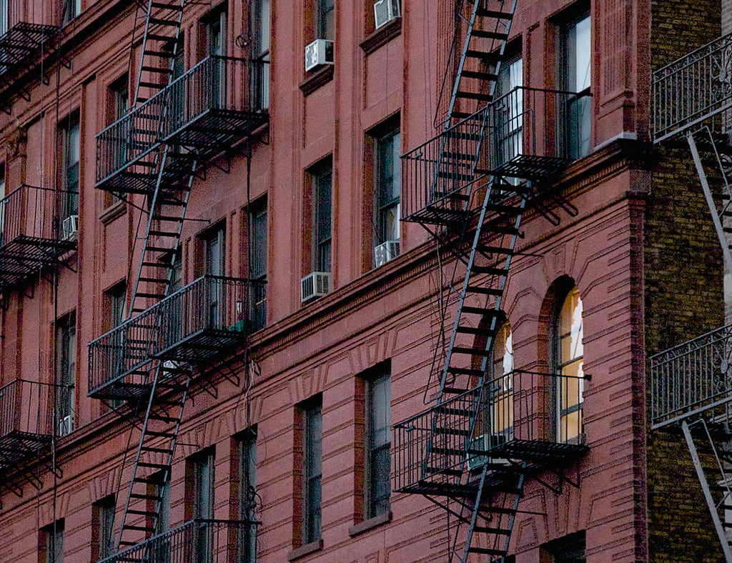 US New York Urban Staircase