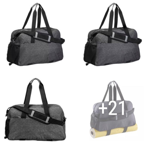 FITNESS AND CARDIO TRAINING BAG 30 LITERS DARK - GRAY DOMIOS