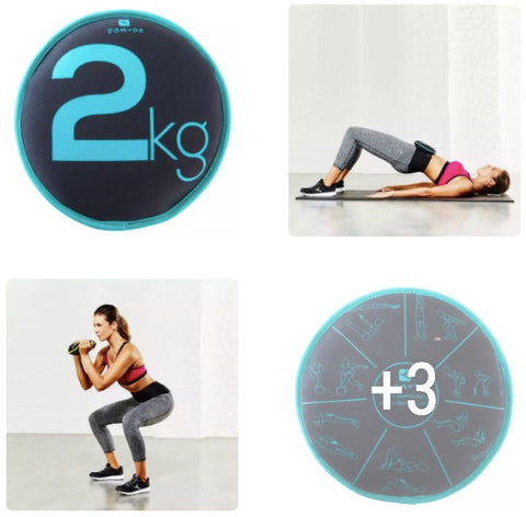 2KG PILATES WEIGHTBAND DISC NYAMA