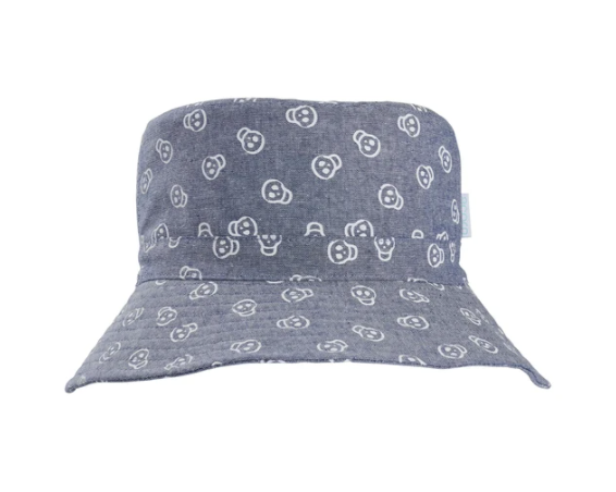 blue skull hat - infant