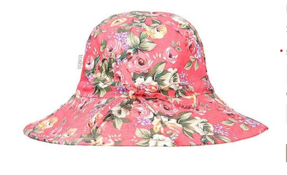pink beach hat - infant