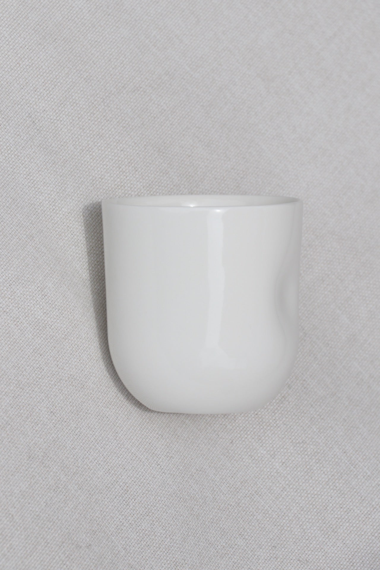 White Thumb Pressed Cup