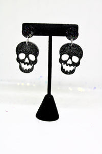 Skull Earrings, retro earring, Skull drop, skull earrings, halloween earrings, halloween accessories