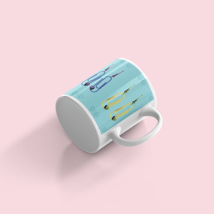 Limited Edition Paperclip Love Ceramic Mug