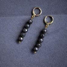 Load image into Gallery viewer, Faceted Drop of 5 Pyrite Stone Earrings
