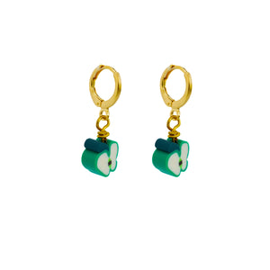 Granny Smith, Green Apples Earrings