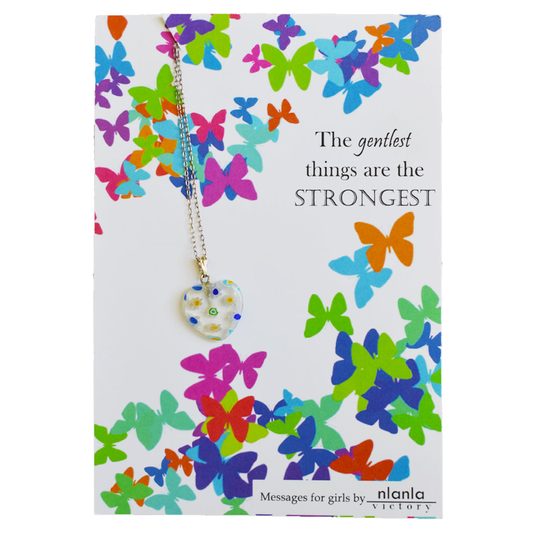 Limited Edition The Gentlest Things are the strongest 18 inch Sterling Silver Chain